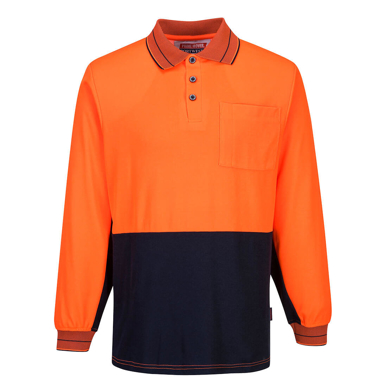 Picture of Prime Mover-MP213-Long Sleeve Cotton Comfort Polo