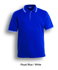 Picture of Bocini-CP0422-Unisex Adults Double Striped Polo