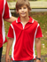 Picture of Bocini-CP0552-Kids Breezeway Contrast Polo