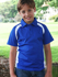 Picture of Bocini-CP0939-Team Essentials-Kids Short Sleeve Contrast Panel Polo