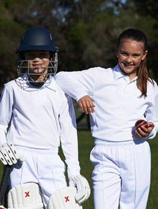 Picture of Bocini-CP1214-Kids Long Sleeve Cricket Polo