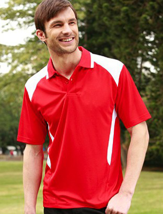 Picture of Bocini-CP1215-Unisex Adults Honey Comb Contrast Panel Polo