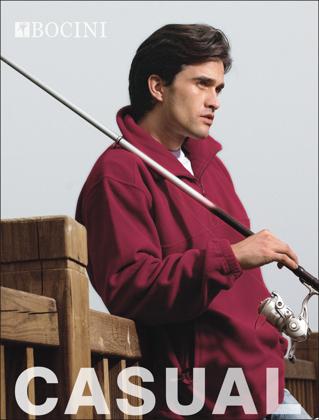 Picture of Bocini-CJ3019-Unisex Adults Polar Fleece 1/2 Zip