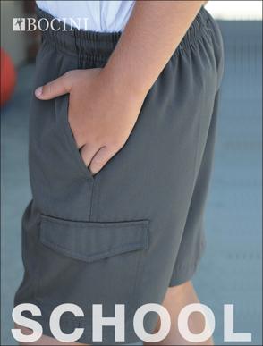 Picture of Bocini-CK1403-Kids School Cargo Shorts
