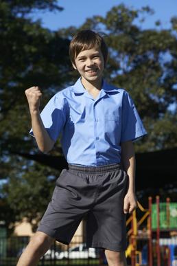 Picture of Bocini-CS1307-Boys Short Sleeve School Shirt