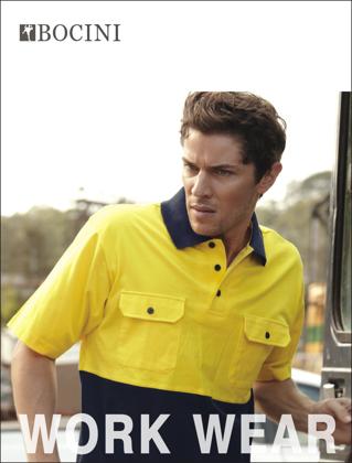 Picture of Bocini-SP1010-Unisex Adults Hi-Vis Cotton Jersey Polo S/S