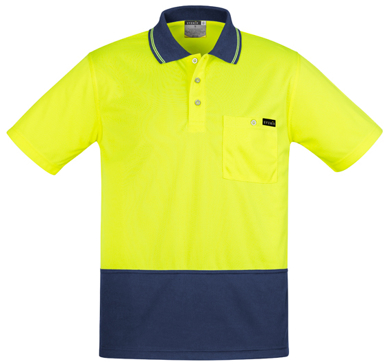 Picture of Syzmik Workwear-ZH415-Mens Comfort Back S/S Polo
