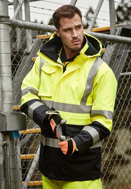 Picture of Syzmik Workwear-ZJ900-Mens Arc Rated Anti-Static Waterproof Jacket