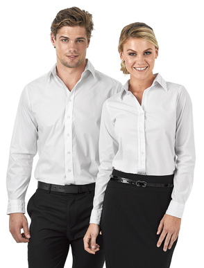 Picture of Identitee-W22(Identitee)-Mens Long Sleeve Stretch Shirt with Self Trim