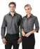 Picture of Identitee-W64(Identitee)-Ladies 3/4 Sleeve Cross Hatch Dress Shirt